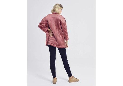 MOSS Copenhagen Qwin Stripe Jacket Vintage Pink