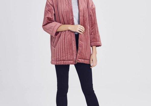 Qwin Stripe Jacket Vintage Pink