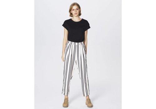 MOSS Copenhagen Tracy Jio Loose Pant Ecru Black Stripe