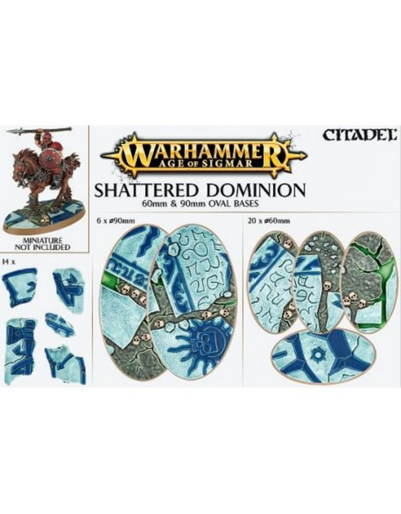 Citadel Shattered Dominion:  60 & 90mm Oval Base Detail Kit