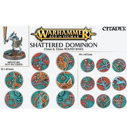 Citadel Age of Sigmar:  SHATTERED DOMINION:  25 & 32MM ROUND BASE DETAIL KIT