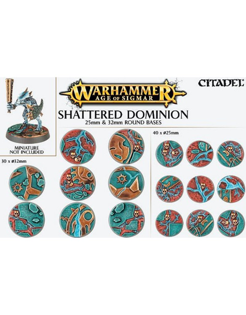 Citadel Shattered Dominion:  25 & 32mm Round Base Detail Kit