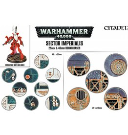 Citadel Warhammer 40k: SECTOR IMPERIALIS 25 & 40MM ROUND BASES