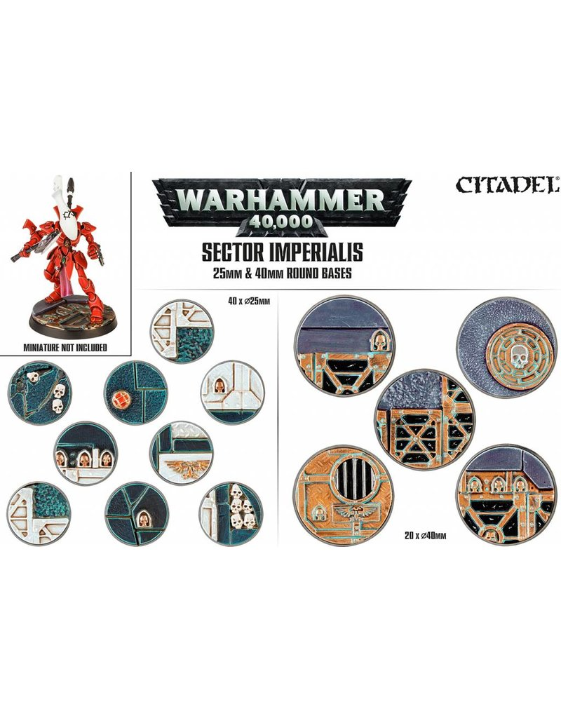 Citadel Sector Imperialis 25 & 40mm Round Bases Kit