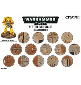 Citadel Warhammer 40k: SECTOR IMPERIALIS 32MM ROUND BASES