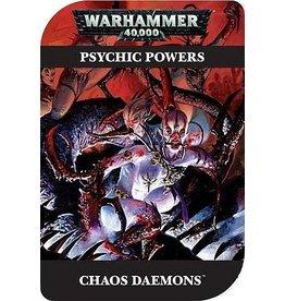 Games Workshop PSYCHIC POWERS:  CHAOS DAEMONS (EN)