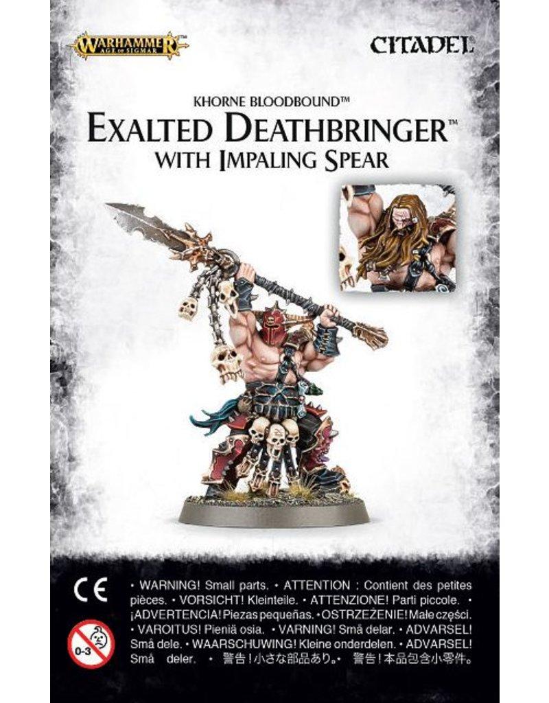 Games Workshop Bloodbound Exalted Deathbringer With Impaling Spear