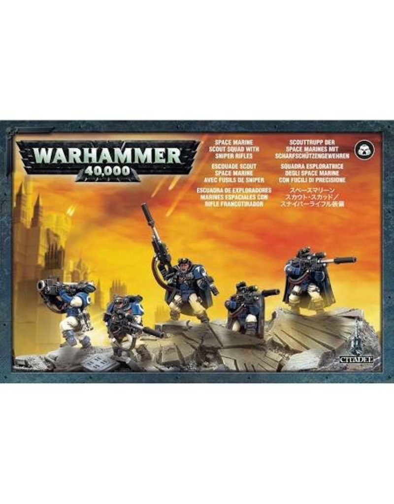 Games Workshop Adeptus Astartes Scouts With Sniper Rifles