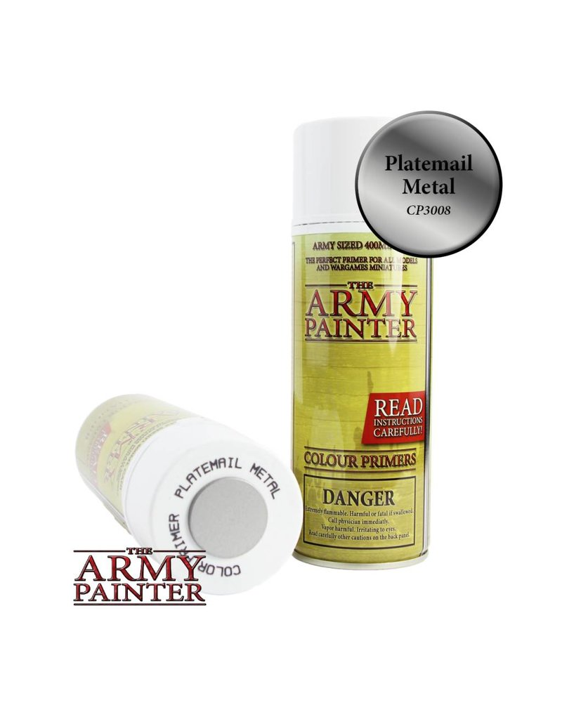 The Army Painter Colour Primer - Plate Mail Metal – 400ml