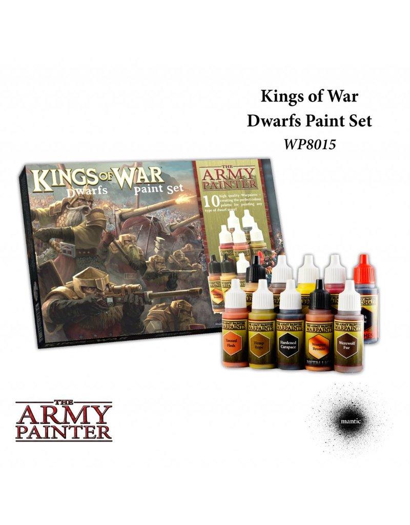 The Army Painter Warpaints Kings Of War Dwarfs Paint Set