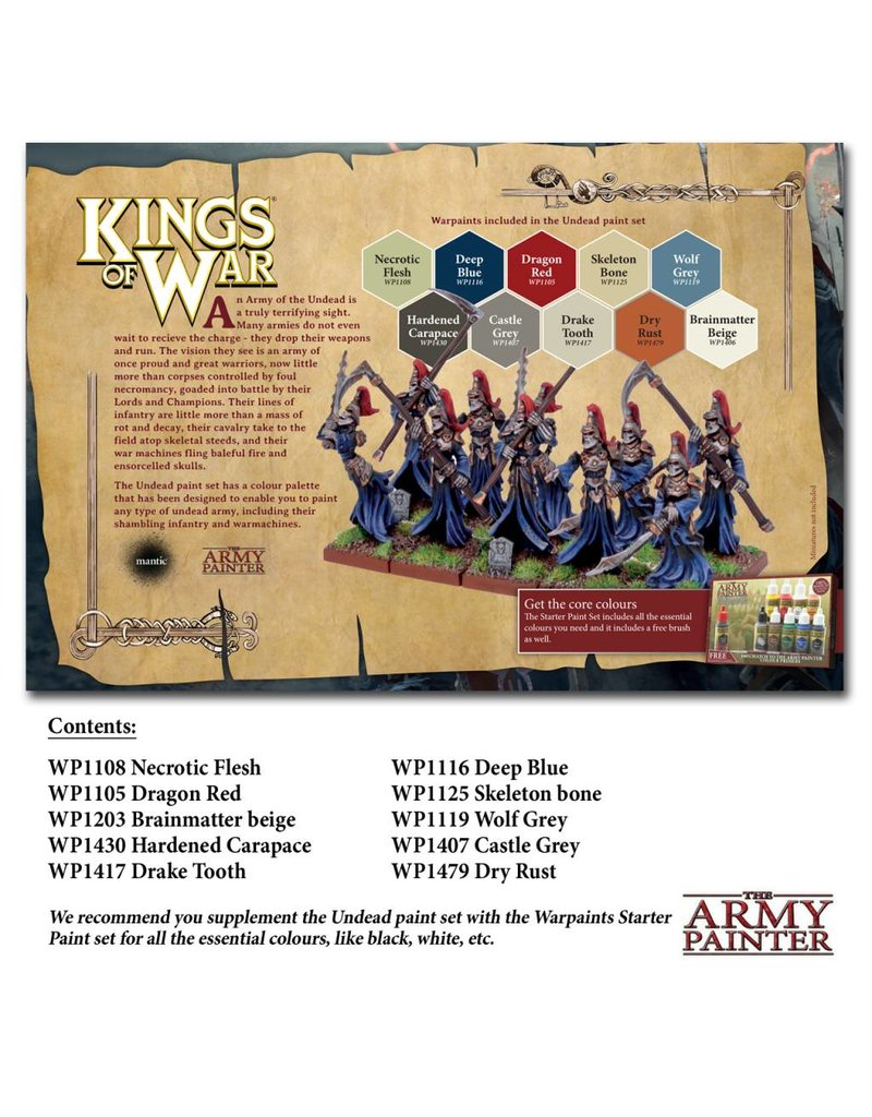 The Army Painter Warpaints Kings Of War Undead Paint Set