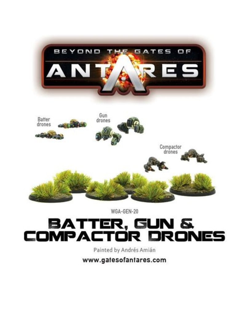 Warlord Games Batter, Gun & Compactor drones (6 Fig Blister)