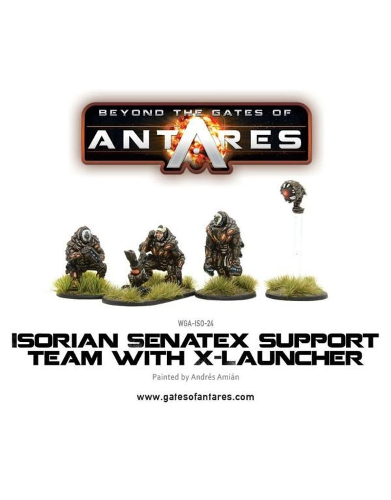 Warlord Games Isorian Senatax support team with X-Launcher