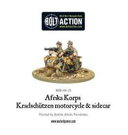 Warlord Games Kradschutzen motorcycle and sidecar