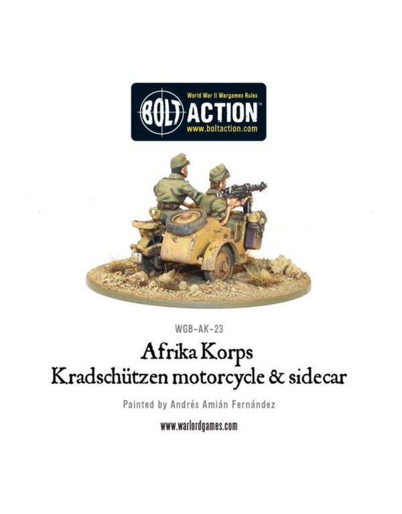 Warlord Games Afrika Korps Kradschutzen motorcycle and sidecar