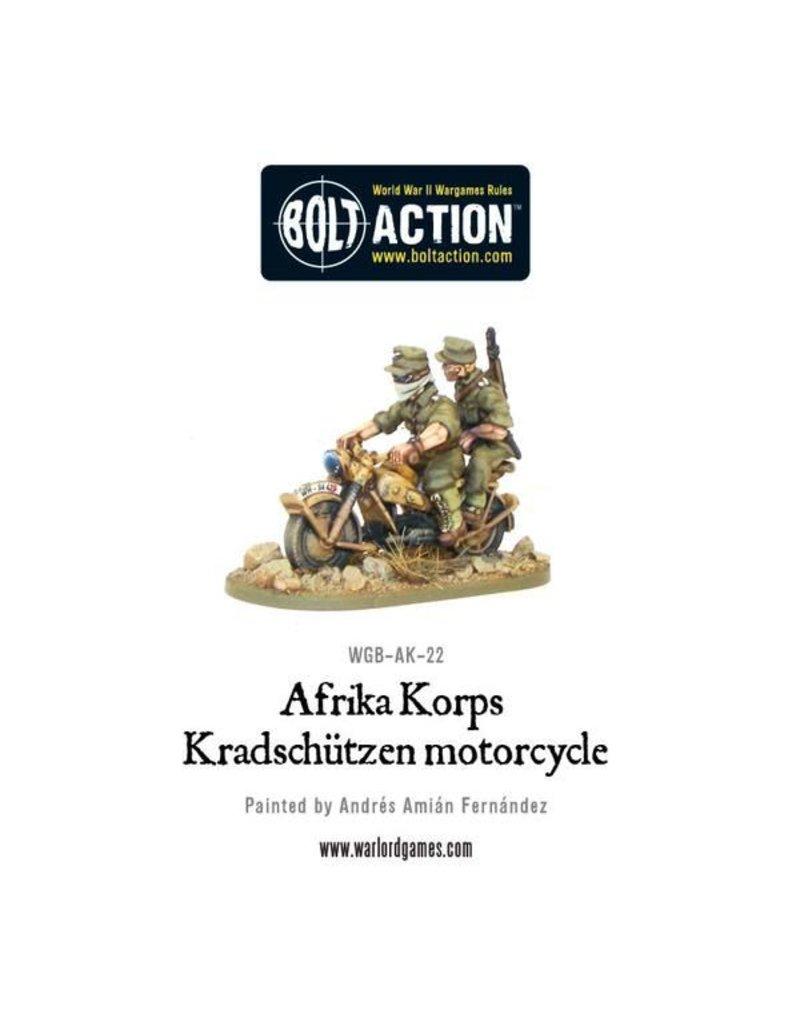 Warlord Games Afrika Korps Kradschutzen motorcycle