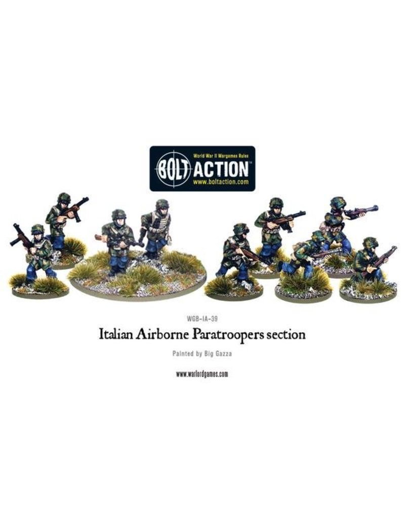Warlord Games Italian Army Airborne Paratroopers section