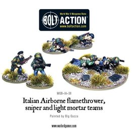 Warlord Games Italian Airborne flamethrower, sniper and light mortar teams