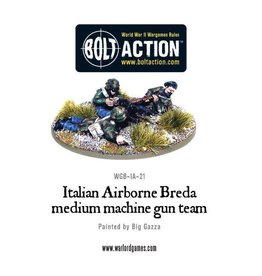 Warlord Games Italian Airborne Breda medium machine gun team