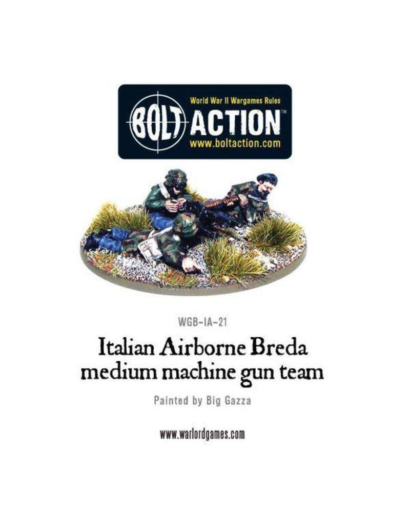 Warlord Games Italian Army Airborne Breda medium machine gun team