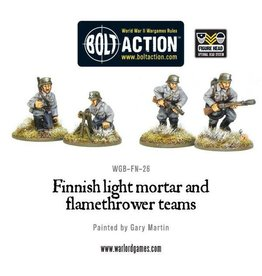 Warlord Games Finnish Light Mortar & Flame Thrower