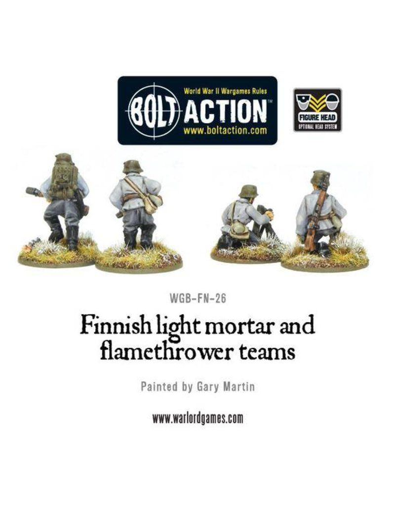 Warlord Games Finnish Army Light Mortar & Flame Thrower Teams