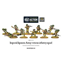 Warlord Games Imperial Japanese Army veteran infantry squad