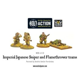 Warlord Games Imperial Japanese Sniper and Flamethrower teams
