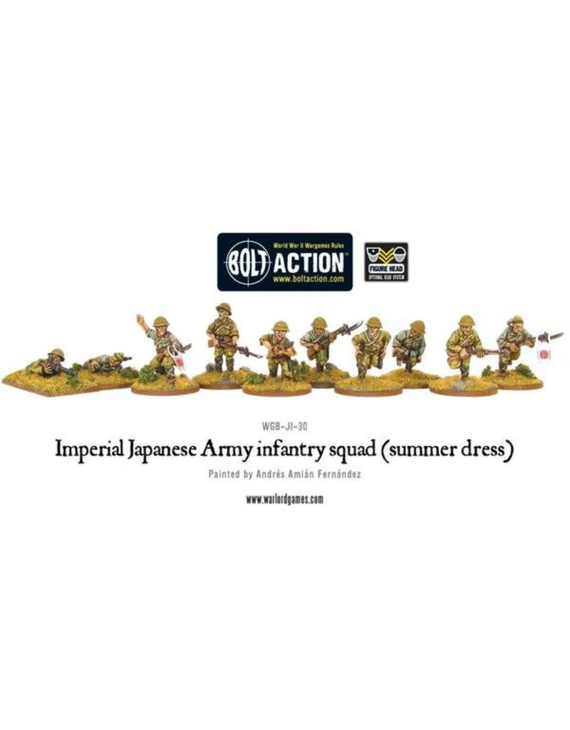 Warlord Games Imperial Japanese Army infantry squad (summer dress)