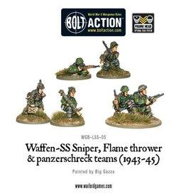 Warlord Games Waffen-SS Sniper, Flamethrower and Panzerschreck teams