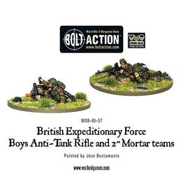 "Warlord Games Anti-Tank Rifle Team & 2"" Light Mortar Teams"