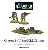 Warlord Games British Commando Vickers K LMG Teams