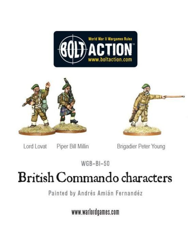 Warlord Games  British Commando characters (Lord Lovat, Piper Millin & Brigadier Young)