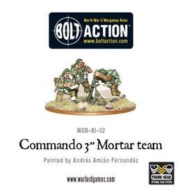 """Warlord Games Commando 3"""" mortar team"""
