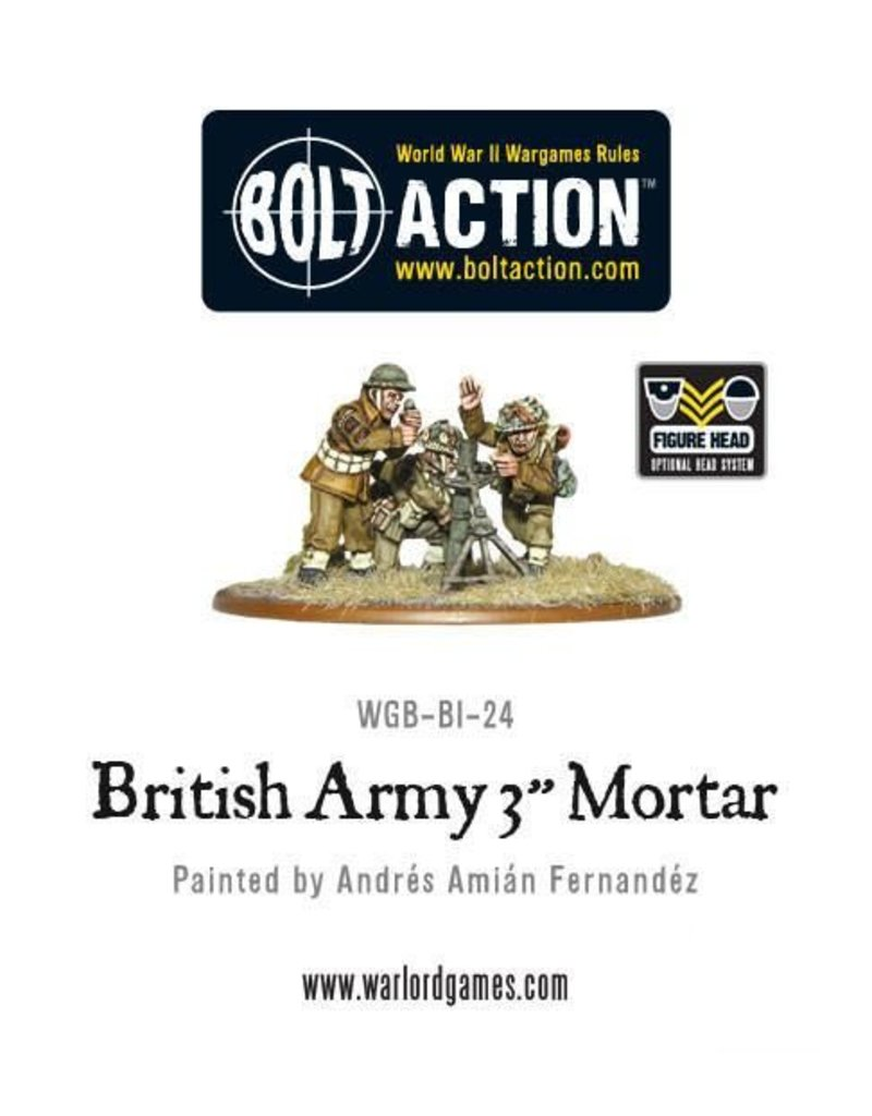 "Warlord Games British Army 3"" Mortar Team"