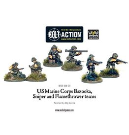 Warlord Games US Bazooka, Sniper & Flame Thrower Teams