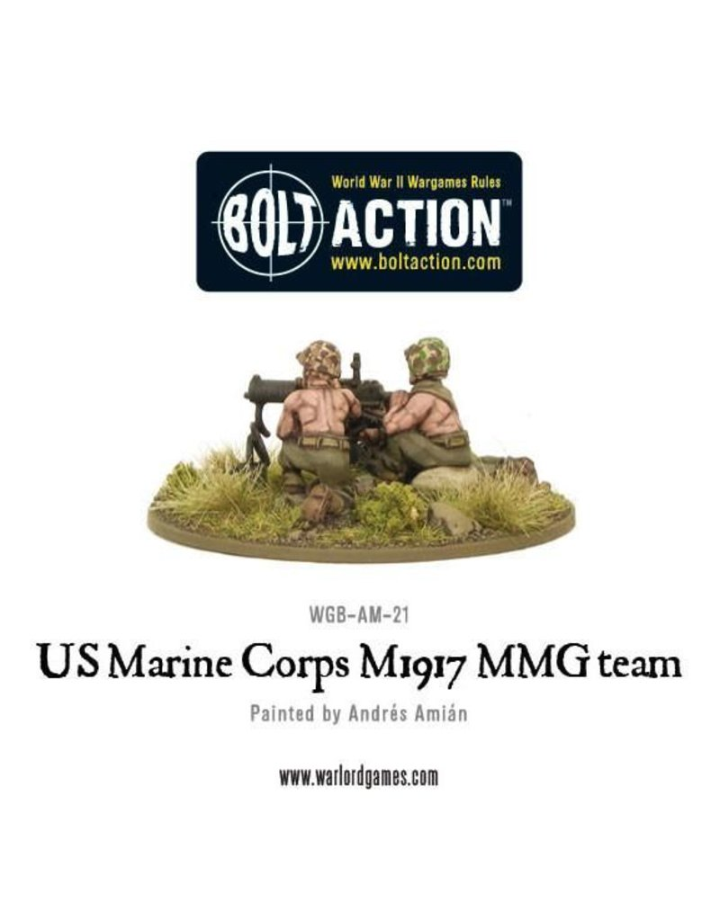 Warlord Games US Army Marine Corps M1917 MMG team