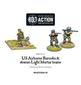Warlord Games US Airborne Bazooka & 60mm light mortar team