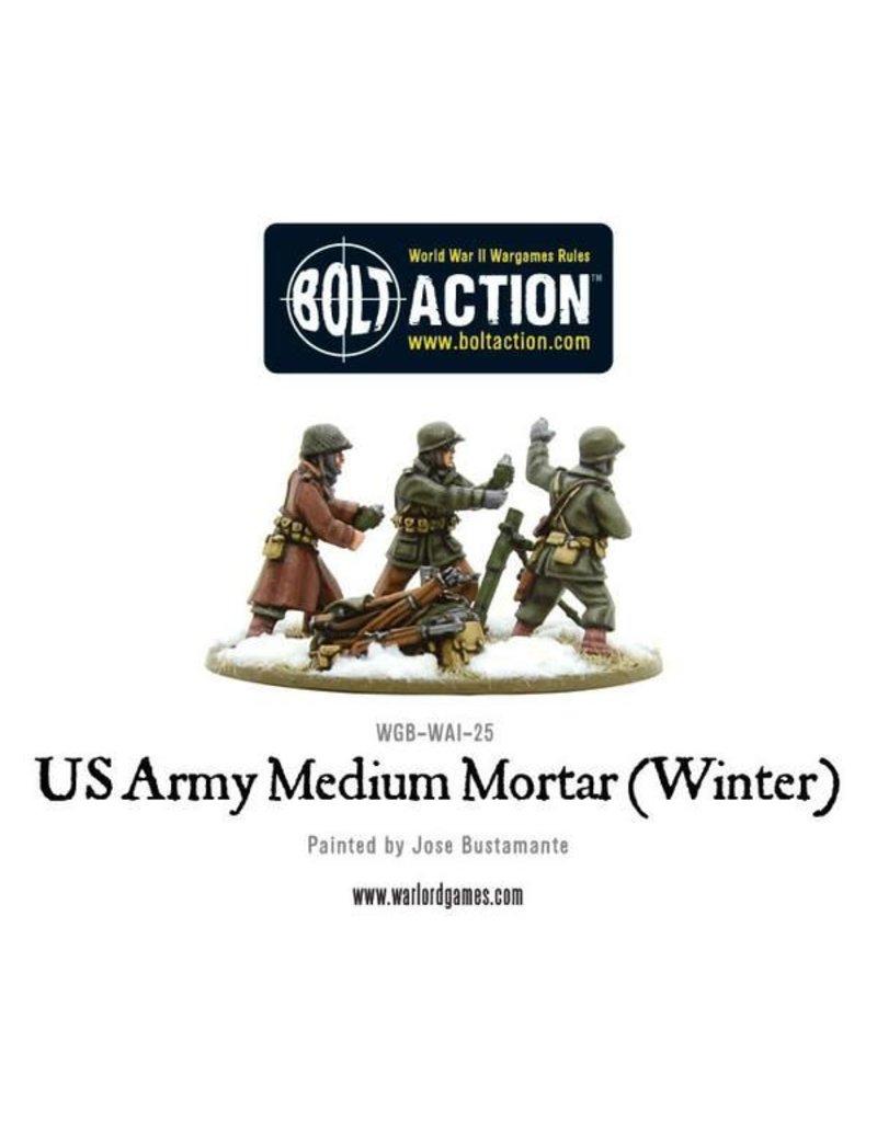 Warlord Games US Army Medium Mortar (Winter)