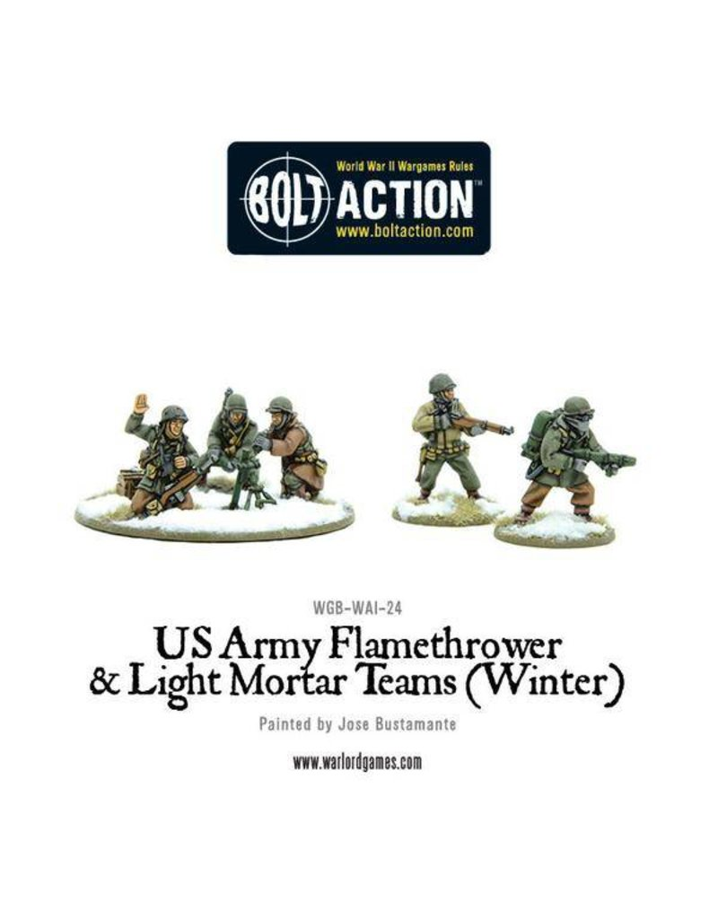 Warlord Games US Army Flamethrower & Light Mortar teams (Winter)