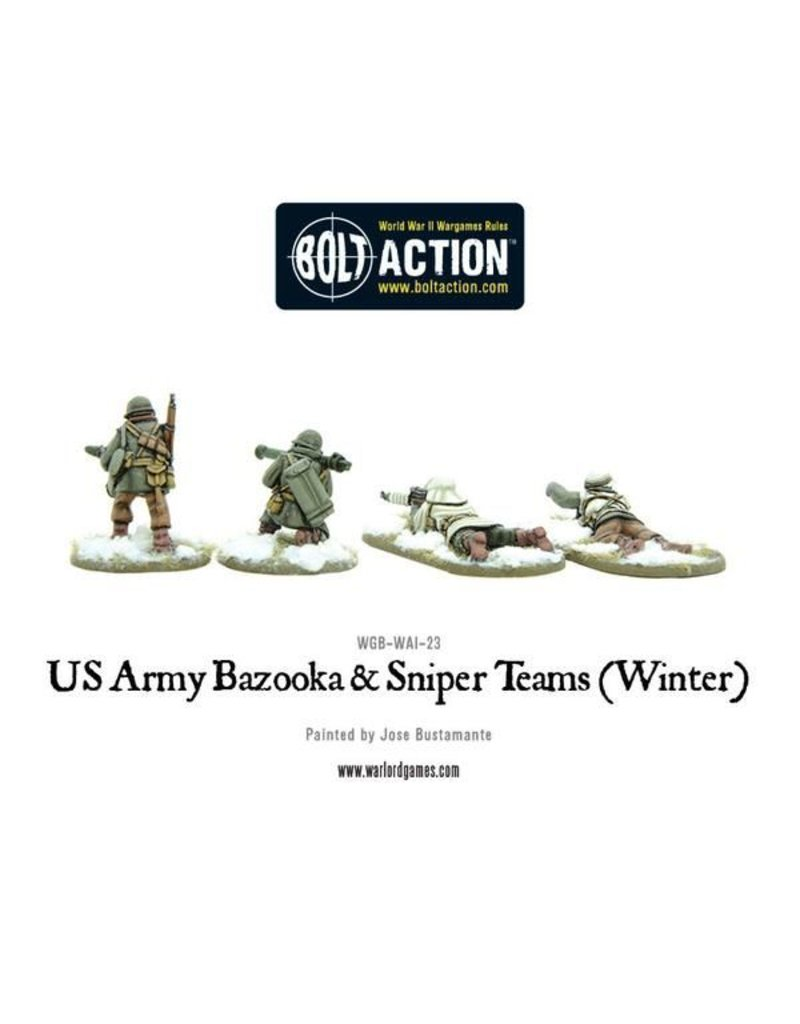 Warlord Games US Army Bazooka and Sniper teams (Winter)