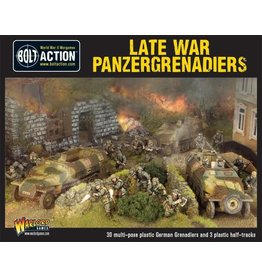 Warlord Games Late War Panzergrenadiers (30+ 3 Hanomags)