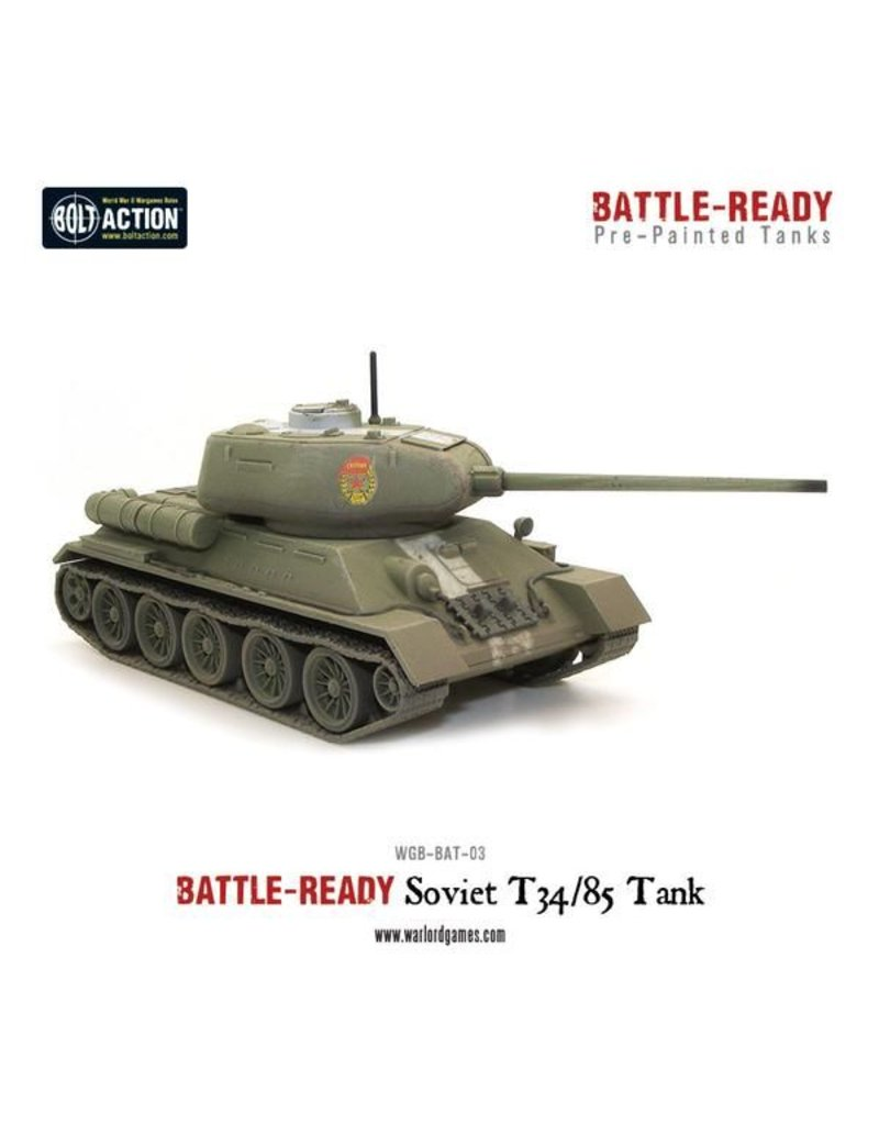Warlord Games Soviet T34/85 Battle Ready Tank - Pre painted