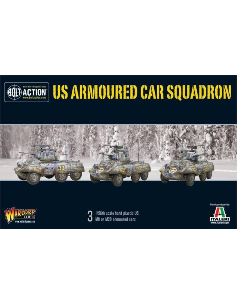 Warlord Games US Army M8/M20 Greyhound Scout Car Squadron