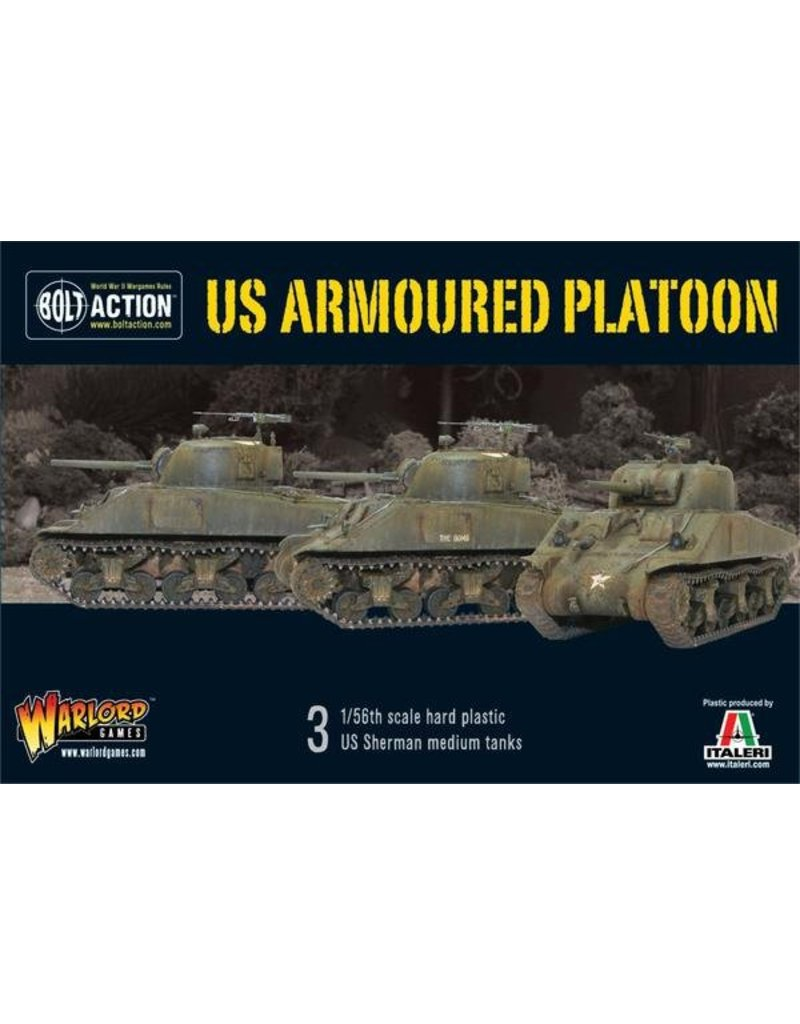 Warlord Games US Army Armoured Platoon (3 Shermans)