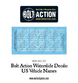 Warlord Games US Vehicle Decals