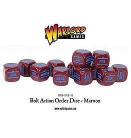 Warlord Games Bolt Action Orders Dice - Maroon (12)