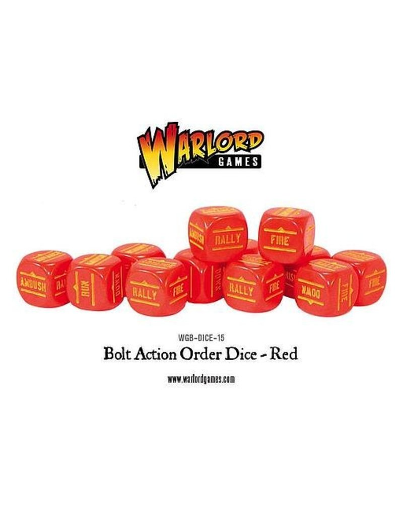 Warlord Games Bolt Action Orders Dice - Red (12)