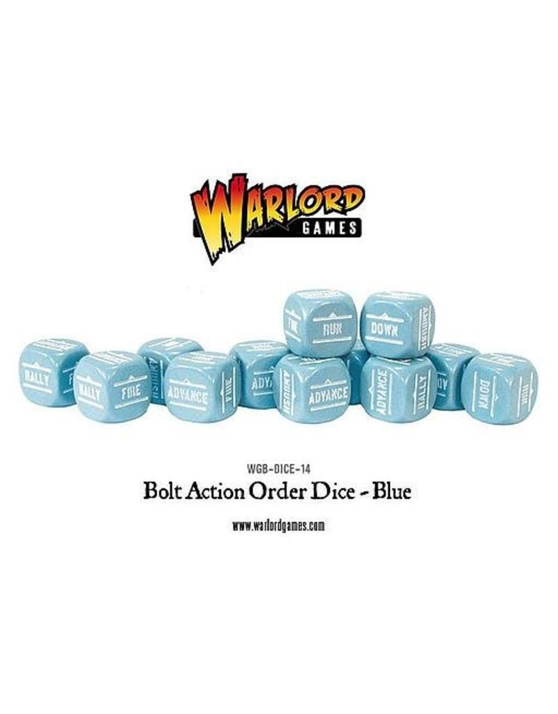 Warlord Games Bolt Action Orders Dice - Blue (12)