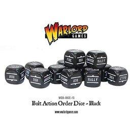 Warlord Games Orders Dice - Black (12)